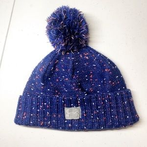 Under Armour girls Pom Pom winter hat